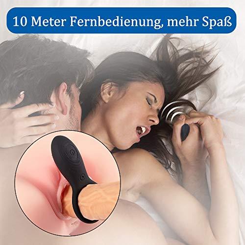 Fondlove Penisringe Penisring Vibrator Cockring Paarvibrator mit Fernbedienung G Punkt klitorisstimulator mit 10 Vibrationsmodi Sexspielzeug für Männer und Paare Penis Erektion Masturbator