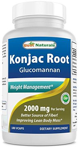 Best Naturals, Konjac Root 2000mg, 180capsule