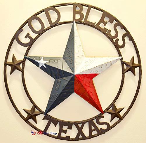 BestGiftEver Dekor Texas, Metallstern, zum Aufhängen, 61 cm 24