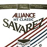 Savarez - Cuerdas para Guitarra Cl�sica Concert Alliance HT 540ARJ Juego Tensiones Mezcladas Rojo/Azul (Standard/Alta)