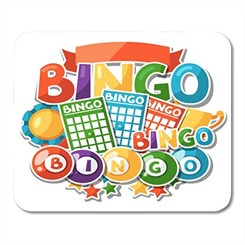 to Bingo Lottery Game with Balls and Activity Board Mouse Pad for Notebooks,Desktop Computers Mouse Mats, Office Supplies ()