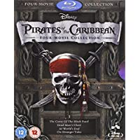 Pirates of the Caribbean 1-4 Box Set [Blu-ray]