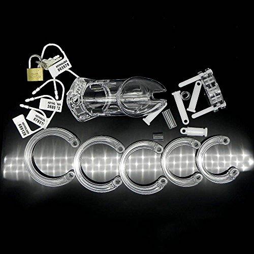 WEKA 9 cm castidad masculina Dispositivo productos adultos Bondage la jaula del martillo con la cerradura Nueva color transparente