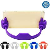 Captcha® Silicone Thumbs Up Phone Stand, Universal Flexible Multi-angle Cute Mini Android Smart Cellphone Tablet Desk Holder For Kitchen Office Home Travel-OK Stand For All Android & Iphone Smartphones (One Year Warranty, Assorted Colour)