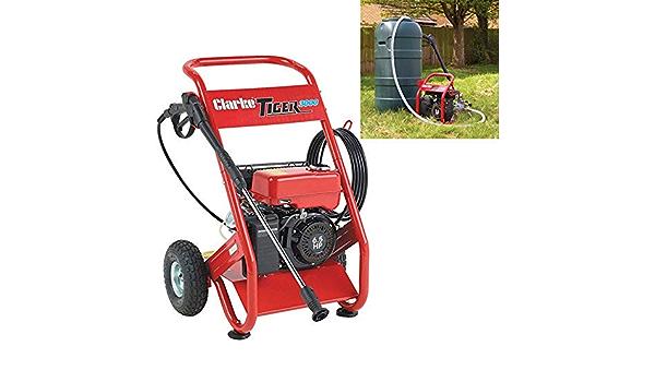 Clarke  Tiger 3000-200 Bar Petrol Power Washer With Barrel Feed 7320210