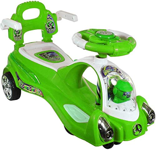 Adelee Plastic Space Swing Car for Kids (Green)