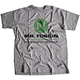 9036g Mr Fusion Herren T-Shirt Hill Valley Biff Co Flux Capacitor Emmet Brown Scooter(Small,Sportsgrey)
