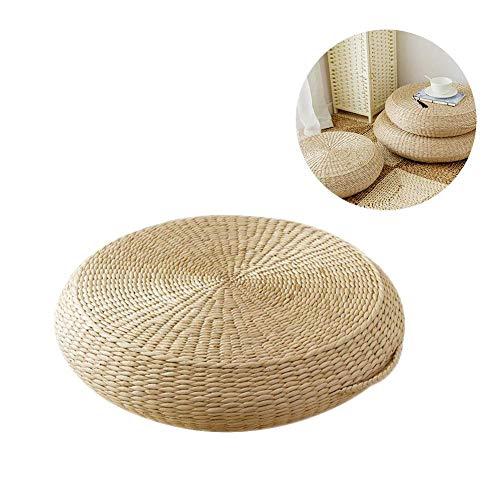 Cuscino futon, materassino da meditazione cuscino da pavimento confortevole tempio buddista culto mat ispessimento bulrush rattan tessuto tatami cuscino cuscino multifunzionale a mano futon pavimento