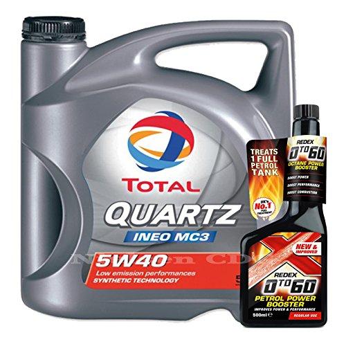 total-quartz-ineo-mc3-5w40-oil-5l-redex-petrol-0-to-60-octane-booster-500ml
