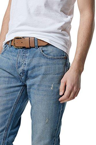 next Jean avec ceinture Coupe Slim Homme Bleu