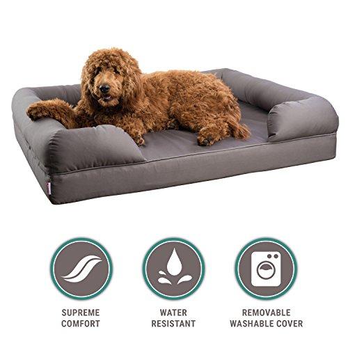 Petlo Orthopädische Pet Schlafsofa, Hund, Katze Oder Puppy Memory Foam Matratze Bequem Couch für Haustiere mit Abnehmbarem waschbarem Bezug, XL - 46