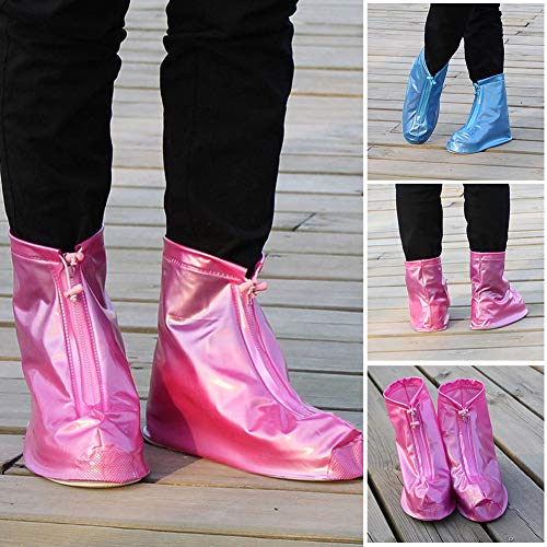 [High Guality Bicycle Accessoires]-wiederverwendbare Wasserproof Rain Boots Zipper Schuhe Covers Protector Anti Slip Overshoes