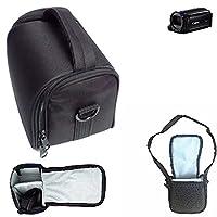 For Canon Legria HF R606: Shoulder bag / Carry bag Camera bag Protective sleeve Photo camera case travel case Accessory bag Rain protection, shockproof, anti shock black Dimensions: 13cm (5.1'') x 9.5