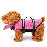 Mogoko Haustier Hund Schwimmhilfe für Hunde Doggy Rettungsweste Float Coat Wassersport Schwimmweste Hundeweste Hunde-Schwimmweste Storm mit Griff und Reflektoren Rosa Blau Gelb XS S M (XS, Rosa)