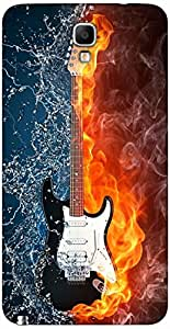 Timpax Hard Back Case Cover Printed Design : Music and fire.Precisely Design For : Samsung GALAXY Note 3 Neo ( SM-N7505 )