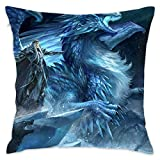 Yuerb Taies d'oreillers God of War and Dragon,Pillow Covers Decorative 18x18 in Pillowcase Cushion Covers with Zipper