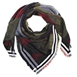 Distressed XXL Damen Oversized Schal übergroßer Deckenschal Karo Plaid Muster kariert Poncho - viele Farben