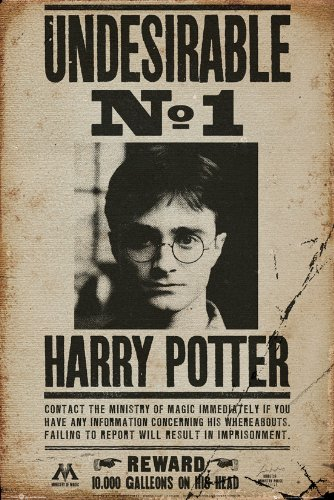 GB eye LTD, Harry Potter, Undesirable No 1, Maxi Poster, 61 x 91,5 cm