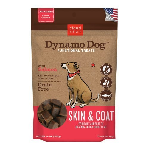 Cloud Star Dynamo Dog Skin and Coat Functional Treat Pouches, Salmon, 14-Ounce by Cloud Star Corporation (English Manual) -