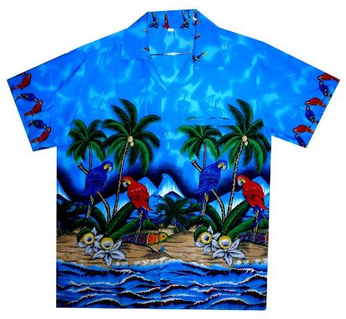 Funky Chemise Hawaienne XS-12XL Bleu