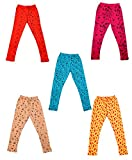 #8: IndiWeaves Girls Super Soft and Stylish Cotton Printed Legging(Pack of 5)_7141617181920-IW-P5