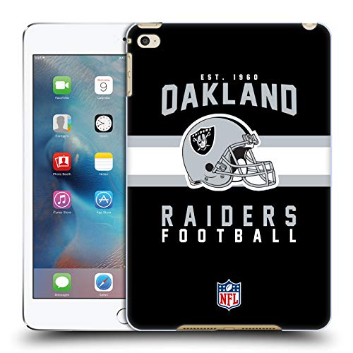 fizielle NFL Helm-Buchdruckerkunst 2018/19 Oakland Raiders Harte Rueckseiten Huelle kompatibel mit iPad Mini 4 ()
