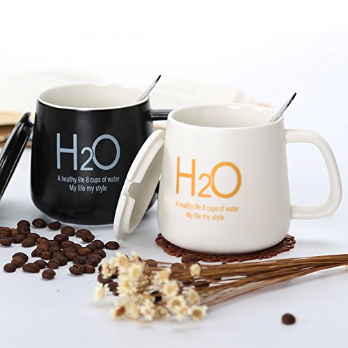 KXZZY Semplice vetro ceramica tazze da caffè latte gli amanti della tazza Mug Mug