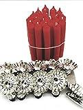 Modern 20 Baumkerzenhalter Silber mit 40 Stück Kerzen Weihnachtsbaum Kerzenzwicker mit Baumkerzen