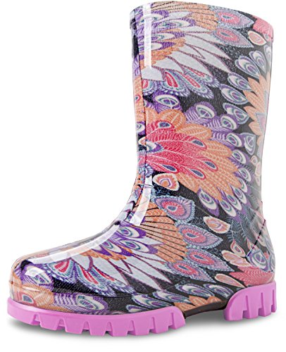 DEMAR multicolores bottes pour enfant tWISTER sur plusieurs motifs - Pfauenfeder