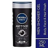 Nivea Active Clean Shower Gel For Men, 250ml