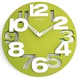 Design moderno orologio da parete da cucina Baduhr office Clock decorazione silenziosa LKU-verde, nuov
