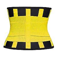 Zealite Waist Trainer Belt For sports bras for women high impact running plus size Women Xs Waist Trainer Belt Belt Sport Girdle Belt (Up Graded) Yellow Medium