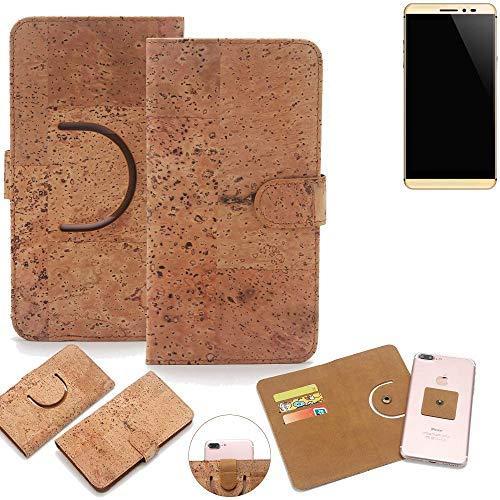 K-S-Trade Schutz Hülle für coolpad Max Handyhülle Kork Handy Tasche Korkhülle Schutzhülle Handytasche Wallet Case Walletcase Flip Cover Smartphone