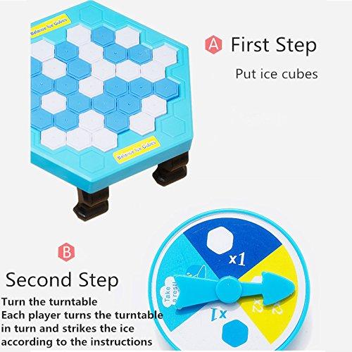 Atommy Rompecabezas del juego del pingüino Rompehielos del pingüino del golpe juguetes del pingüino de los niños juguetes de la tabla interactivos del padre-niño