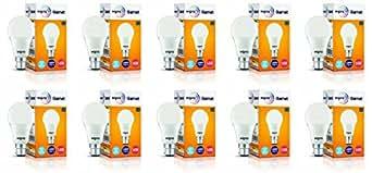 Wipro Garnet Base B22 14-Watt LED Bulb (Pack of 10, Cool Day Light)