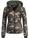 Navahoo Damen Übergangs Jacke Steppjacke Kimuk (vegan hergestellt) Camouflage Gr. XL