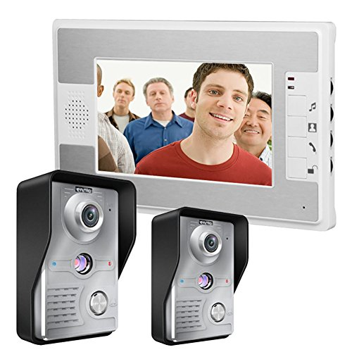 MOLEY Home Security 7-Zoll-TFT-LCD-Monitor Video-Türsprechanlage Sprechanlage mit Nachtsicht Outdoor-Kamera auf Lager Lcd Security Monitor