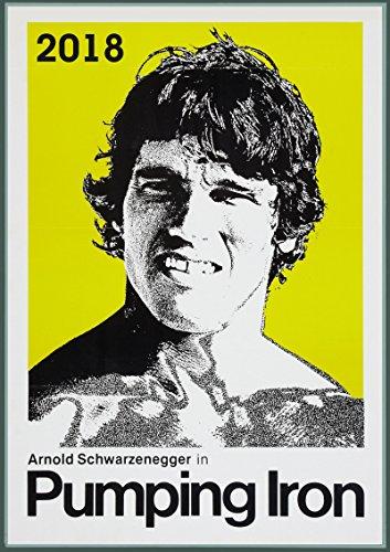 Calendrier mural 2018 [12 pages 20x30cm] Arnold Schwarzenegger Vintage film affiche [Calendar]