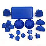 Zhhlinyuan gute qualität Blue L1 R1 L2 R2 Triggers Thumbstick D-pad Buttons Kit fur PS4 Pro Controller 4739# -