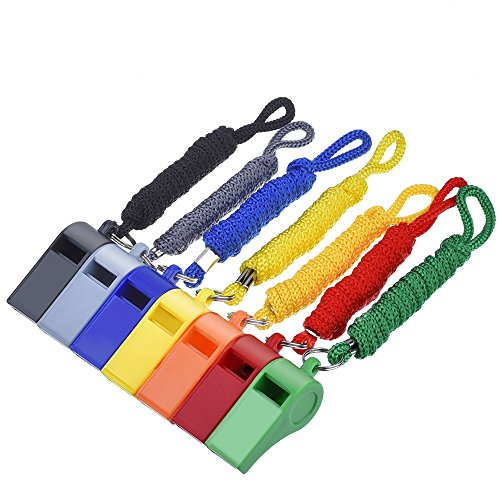 mudder-7-pieces-plastic-coach-whistle-sports-referee-whistle