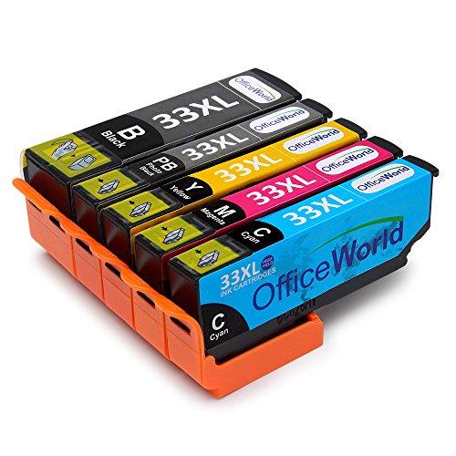Galleria fotografica OfficeWorld Sostituzione per Epson 33 33XL Cartucce d'inchiostro Alta Capacità Epson Expression Premium XP-630 XP-530 XP-645 XP-830 XP-540 XP-640 XP-900 XP-635