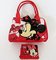 Disney Minnie Mouse - Gorgeous Red Hearts Design Handbag and Purse Gift Set
