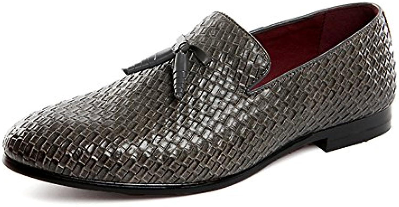 AARDIMI Herren Slipper Mokassins Wohnungen Schuhe Plus Größe 38 48 Slip on Bullock Tassel Fahrschuhe Halbschuhe