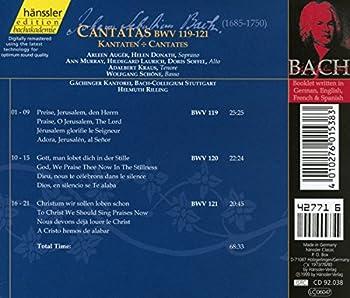 Edition Bachakademie Vol. 38 (Geistliche Kantaten Bwv 119-121) 1