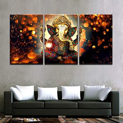 ZJMI Pintura Decorativa Imagen de Salón Dormitorio Decoración 3 Panel de impresión...