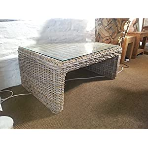 51WkSIA%2ByjL. SS300  - Sustainable Furniture Natural Wicker Zara Coffee Table, Brown, One