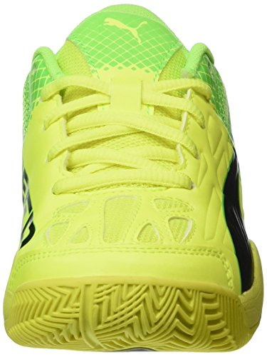Puma Evospeed Indoor 5.5 Jr, Scarpe da Calcio Unisex – Bambini Giallo (Safety Yellow-puma Black-green Gecko-quarry 04)