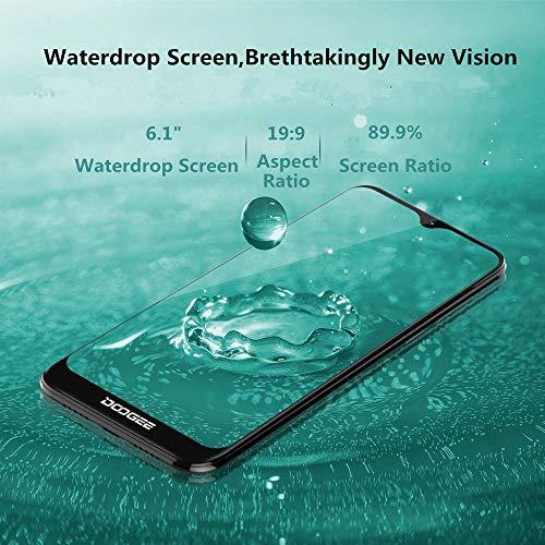 Télephone Portable débloqué Pas Cher 4G, DOOGEE Y8 2019 Smartphone Android 9,0 Mobile 6,1Pouces 19.9 HD+ Goutte d'eau, 3Go+16Go MT6739 Dual ... 7