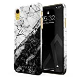 BURGA Coque pour iPhone XR, Noir et Blanc Marbre, Black and White Marble Yin and Yang...