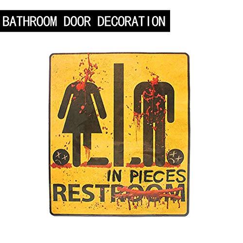Yalatan Neuheiten Blutiges Badezimmer Restroom Türschild, Multicolor